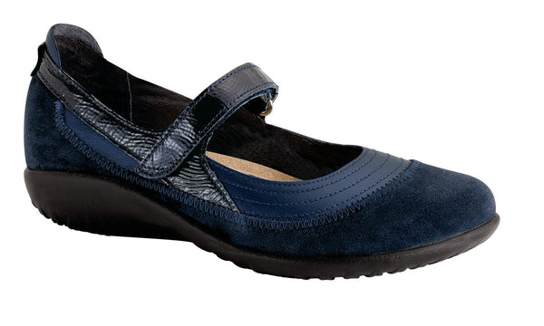 Kirei | Polar Sea Leather/Blue Velvet Suede/Navy Patent Leather