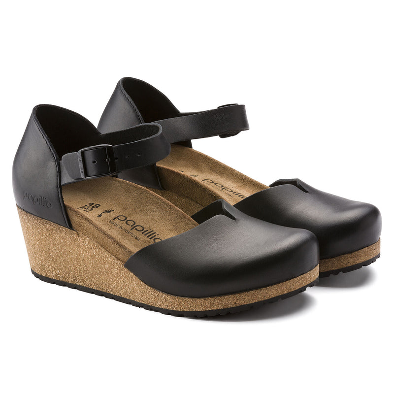 Mary | Wedge | Leather | Black