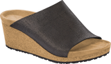 Namica | Wedge | Suede | Washed Metallic Black