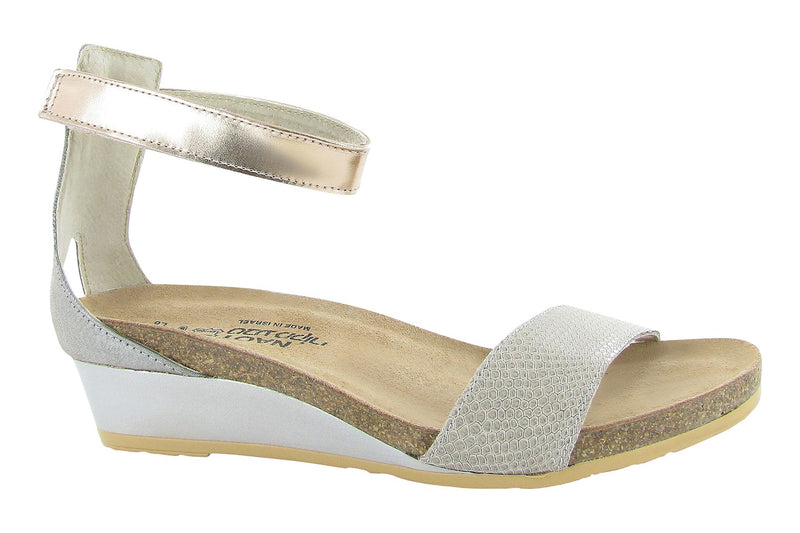 Pixie | Beige Lizard Leather/Silver Threads Leather/Rose Gold Leather