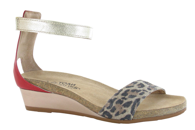 Pixie | Cheetah Suede/Kiss Red Leather/Gold Leather