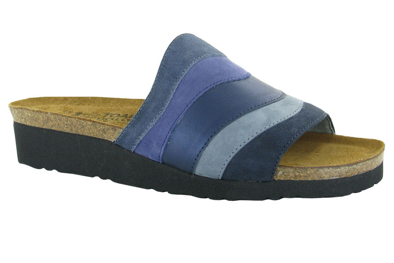 Portia | Midnight Blue Suede/Indigo Nubuck/Polar Sea Leather/Feathery Blue Nubuck/ Navy Velvet Nubuck