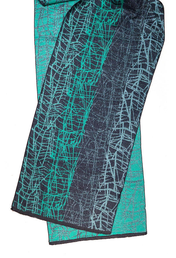 Cashmere Scarf | Busy Wire Green