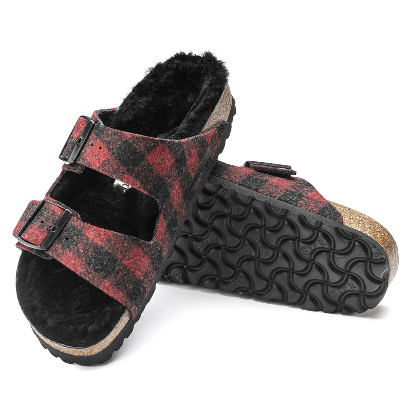 Arizona Shear | Wool | Plaid Red