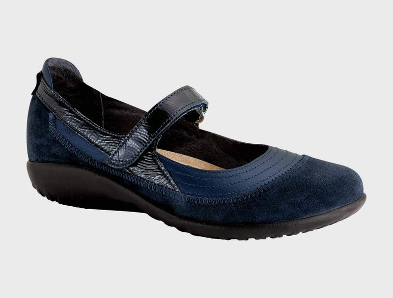 Kirei Wide | Polar Sea/Blue Velvet/Navy Patent