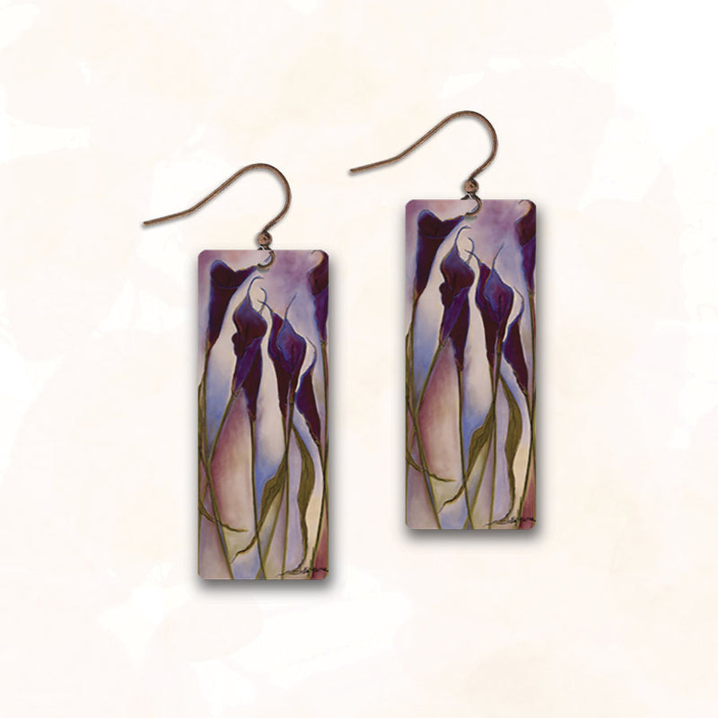 Rectangle Flowers SH32CE | Hook | Violet Floral