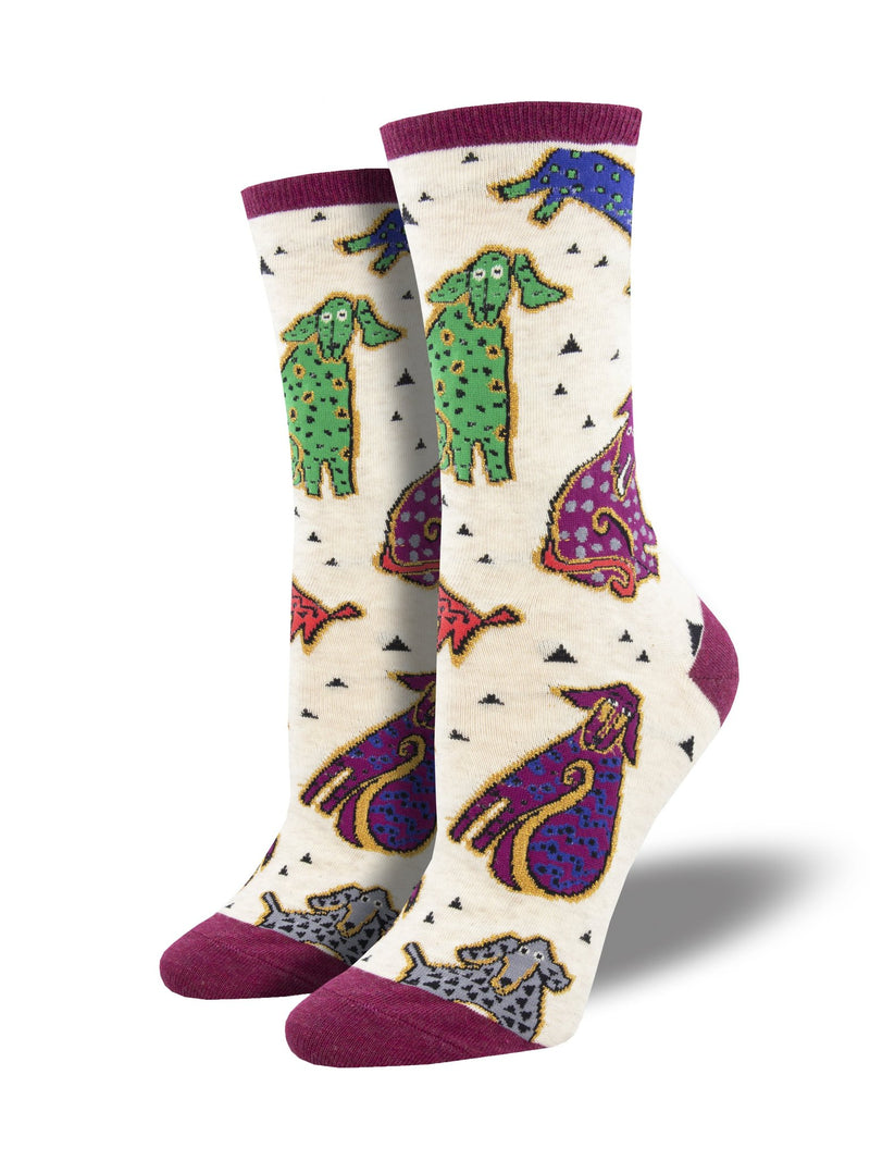 Doggy Dogs - Laurel Burch | Women | Ivory Heather