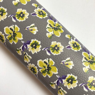 Grey / Yellow Floral