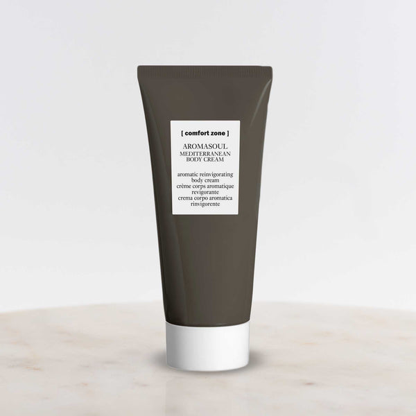Bottle of Comfort Zone Aromasoul Mediterranean Body Cream