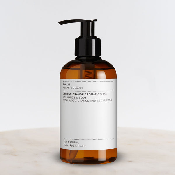 African Orange Body Wash Bottle