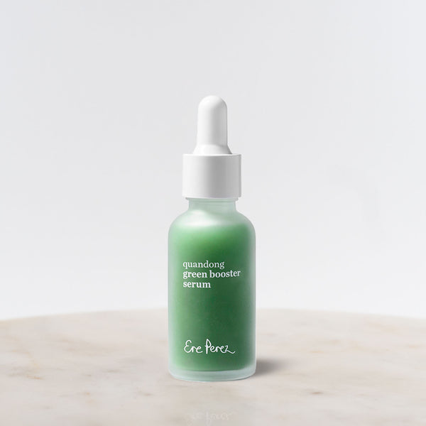 Bottle of Ere Perez Quandong Green Booster Serum