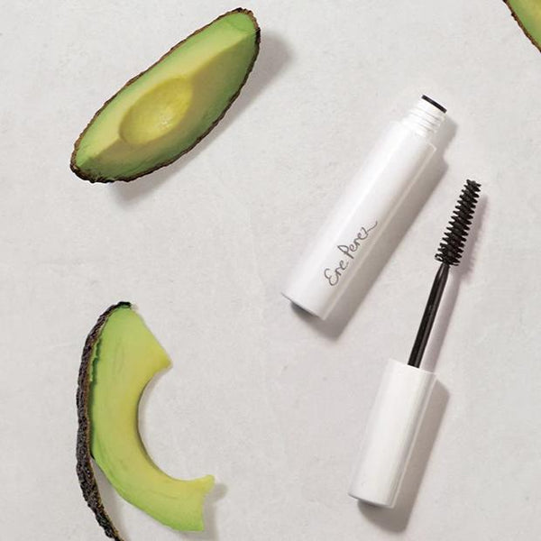 Open bottle of Ere Perez Avocado Waterproof Mascara Black