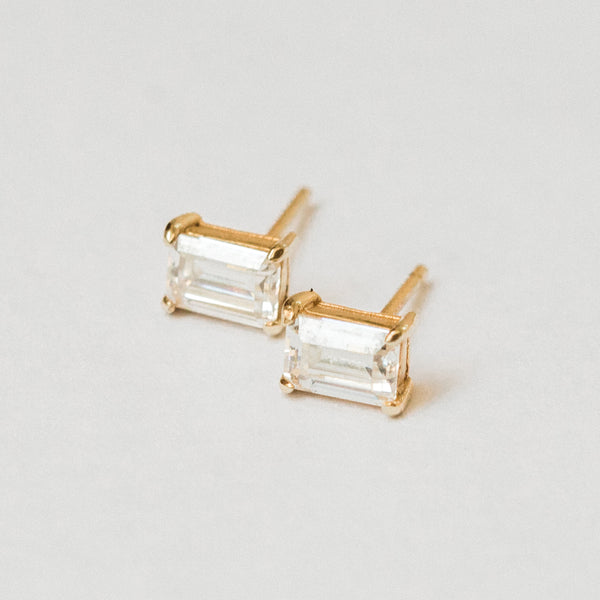The Emerald Cut Studs