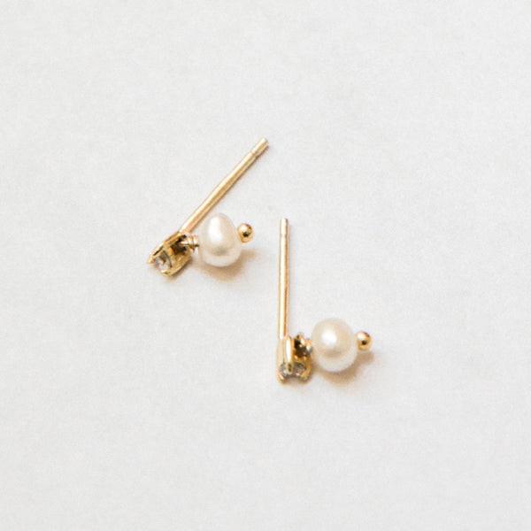 The Pearl and Diamond Studs