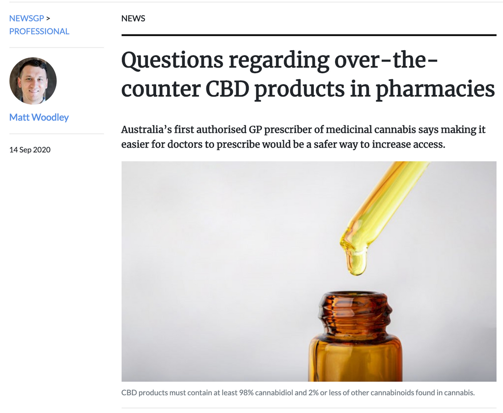 Australia's first authorised GP prescriber of medicinal cannabis says making it easier for doctors to prescribe would be a safer way to increase access.