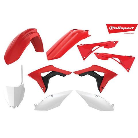 POLISPORT KIT HON CRF450R 17-19 / CRF250R 18- RED/WHT