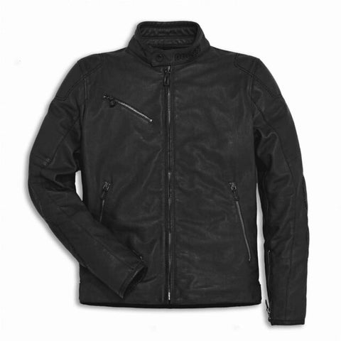 Ducati Downtown Black Leather Jacket