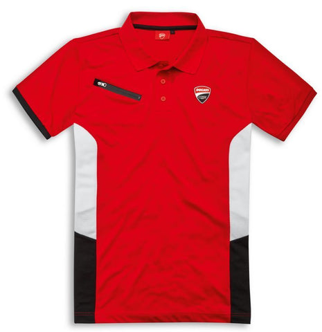 Ducati Corse Power Short Sleeved Fabric Polo Shirt