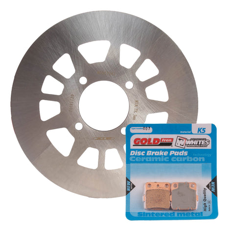 BRAKE ROTOR & PAD REAR KIT - YAM YFM350FX WOLVERINE 95-05