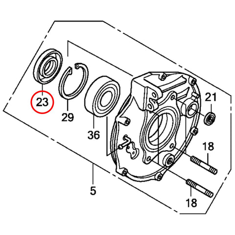 WHITES DUST SEAL - HONDA REAR BRAKE SEAL - 44x75x9