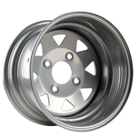WHITES ATV STEEL RIM 8 SPOKE 12 X 7 RR 4/110 2+5 HON SUZ YAM