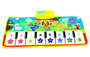 Best selling multi-functional music blanket baby children cute animal baby toys parent-child game blanket