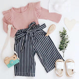 Girls Pink top and Pants Set