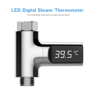 Led Display Water Shower Thermometer LED Display Home Water Shower Thermometer Flow Water Temperture Monitor