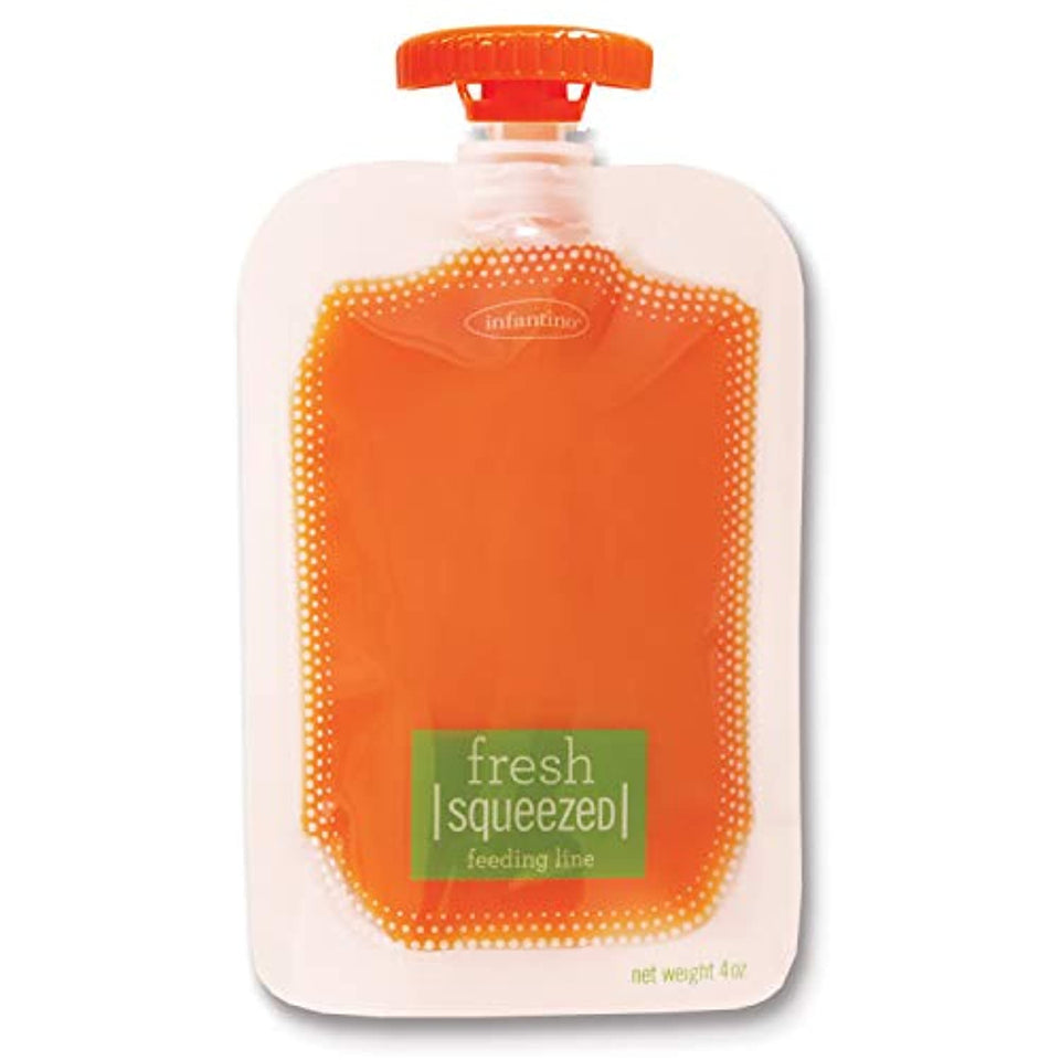 Infantino Squeeze Pouches, 50 pouches, store puree