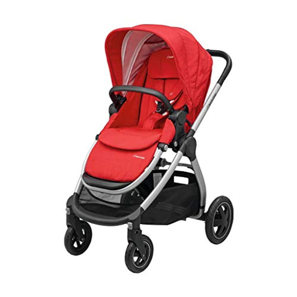 Maxi-Cosi Adorra Baby Pushchair, Comfortable and Lightweight Stroller with Huge Shopping Basket, Suitable from Birth, 0 Months - 3.5 Years, 0-15 kg, Nomad Red