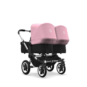 Bugaboo Donkey 2 Mono, 2 In 1 Pram and Pushchair, Extends Into Double Stroller, Black/Ruby Red