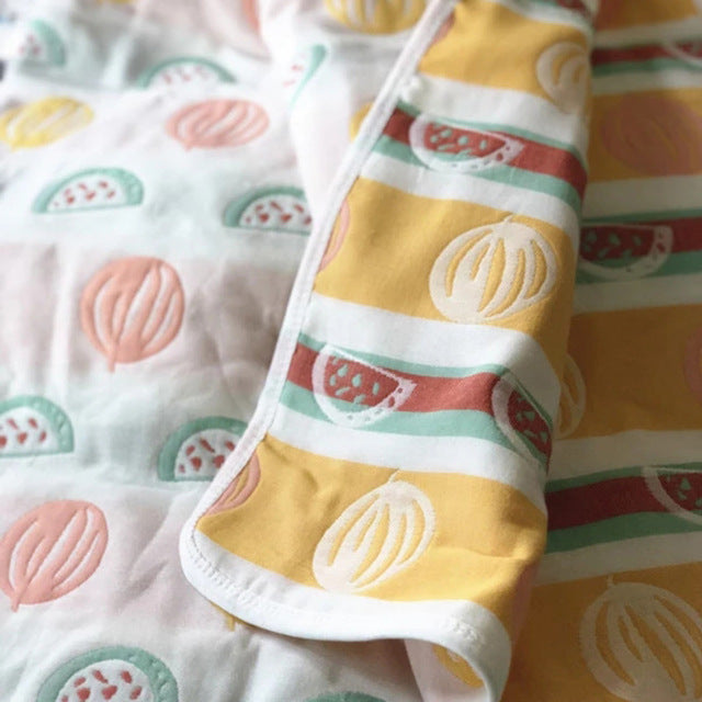 Baby Blankets Kids Children 6 layers Gauze Cotton Newborn Infant Baby Swaddle Towel Kids Bath Towel 70*140cm