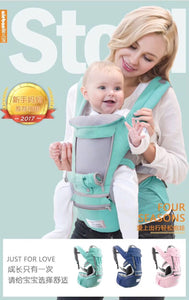 Polka Tots Ergonomic Baby Hip Seat / 6 in 1 Baby Carrier with Airbag Seat