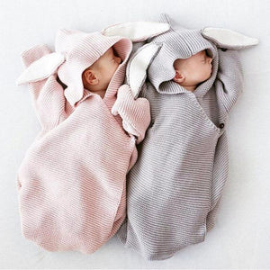 Baby Blankets Envelope for Newborns Baby Covers Cartoon Rabbit Ear Swaddling Baby Wrap Photography Newborn Baby Girl Clothes
