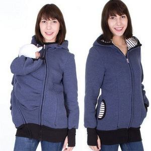 Maternity Snug Baby Warm Kangaroo Pouch Winter Jacket