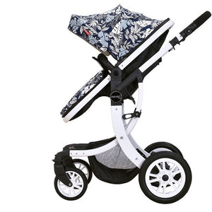 LUXURY Aimile High Landscape 2 in 1 Baby Suspension Stroller