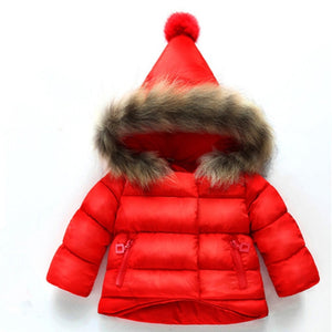 Winter Snow jacket With Fur Hood