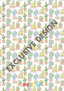 12 X 17 Cactus 1 Pattern Htv Sheet