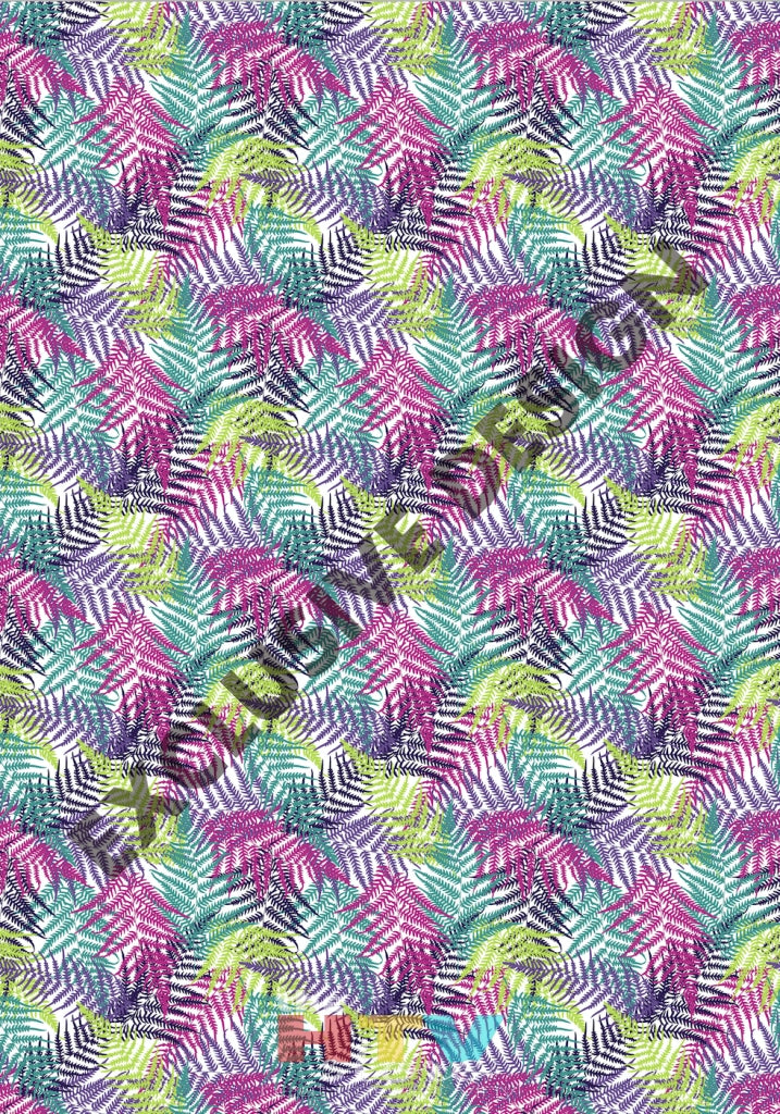 12 X 17 Colorful Branches Leaves Tropical Pattern Htv Sheet