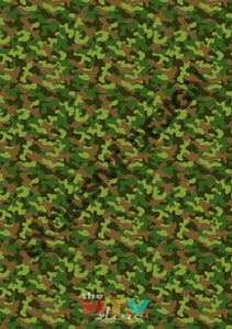 12 X 17 New Camo Camouflage 2 Pattern Htv Sheet