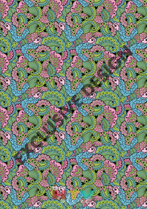 12 X 17 New Paisley Pattern Htv Sheet
