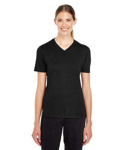 BASIC COLORS Team 365 Ladies' Zone Performance V-Neck T-Shirt 100% Polyester DriFit