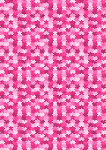 "12"" x 17"" Autism Awareness HTV - Pink Girl Puzzle Pieces Ribbons Pattern HTV Sheet"