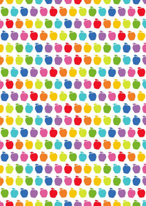"12"" x 17"" Autism Awareness HTV - Rainbow Apples Puzzle Pieces Pattern HTV Sheet"