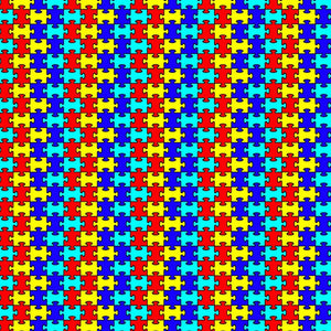 "Autism Puzzle Pattern Decal 12"" x 12"" Sheet Waterproof - Gloss Finish"