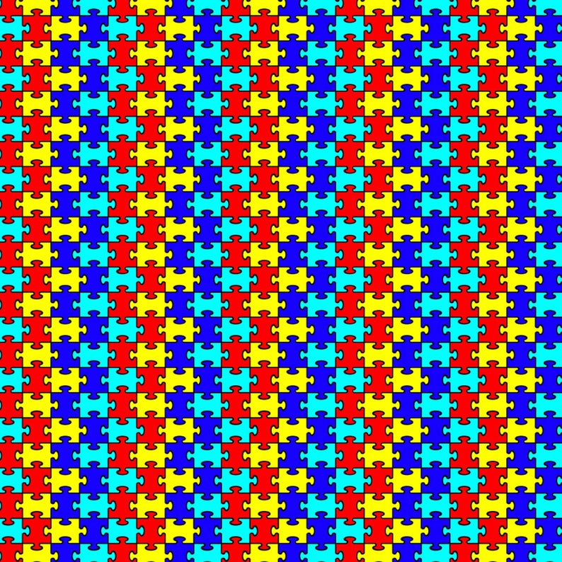 Autism Puzzle Pattern Decal 12