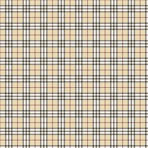 "Beige Black Plaid Pattern Decal 12"" x 12"" Sheet Waterproof - Gloss Finish"