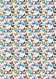 "12"" x 17"" HTV Butterflies Multi White Pattern Heat Transfer Vinyl Sheet"