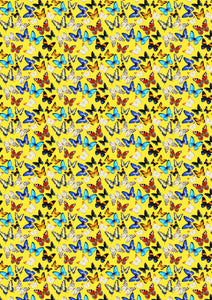 "12"" x 17"" HTV Butterflies Multi Yellow Pattern Heat Transfer Vinyl Sheet"