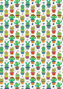 "12"" x 17"" Cactus Pattern HTV Sheet - Heat Transfer Vinyl"